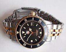 Vintage Men's TAG HEUER Professional Quartz Watch. Date. 37mm Black Dial. WR200M