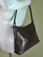 Marks and Spencer rust brown quality leather handbag shoulder bag purse R14755