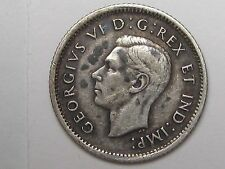 Better Date 1938 Canadian 10 Cent Coin. 10c. CANADA.  #6