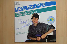 "David Knopfler Autogramm signed Maxi-Cover ""When The Rain Stops"" Vinyl"