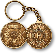 IAFF AFL-CIO Fire Mural antiqued bronze  key chain