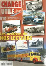 CHARGE UTILE N°81 LES ARCHIVES DE NOS LECTEURS