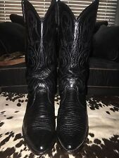 Women's Dan Post genuine lizard skin cowboy boots- size 10M