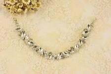 Beaded Applique Crystal Chain Bridal Rhinestone Motif Diamante Wedding Trim
