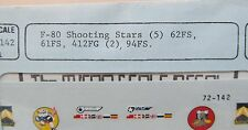 1/72 MicroScale Decals 72-0142 F-80 SHOOTING STARS mint