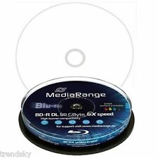 MR509] 1x 10 er Spindel Mediarange Bluray BD-R 50GB Full Printable Rohling 50 GB