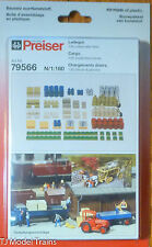 Preiser N #79566 Assorted Cargo  (130 pcs) (Molded in color) 1:160th Scale