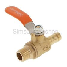 1/4 BSP Thread to 3/8 10mm Barbed Hose Brass Ball Valve Pipe Fittings w/handle