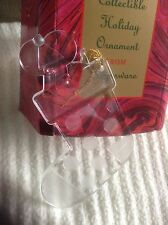 VINTAGE NEW TUPPERWARE COLLECTIBLE HOLIDAY ORNAMENT ACRYLIC MOUSE IN STOCKING