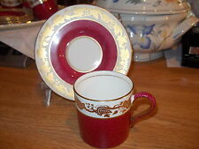 Wedgwood Ruby WHITEHALL - 4 Demitasse Cups and 5 Saucers