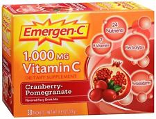 Emergen-C Vitamin C Drink Mix Packets Cranberry Pomegranate 30 Each (Pack of 3)