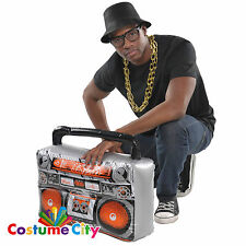 Inflatable Boom Box Radio Player Ghetto Blaster 80s 90s Fancy Dress Accessory