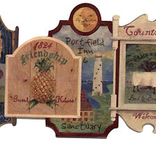 Early American Inn Signs Wallpaper Border