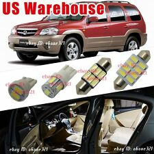 12-pc Luxury White LED Lights Interior Package Map Kit For 01-06 Mazda Tribute