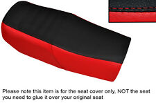 BRIGHT RED & BLACK CUSTOM FITS HONDA CB 750 F1 76-78 DUAL LEATHER SEAT COVER
