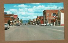 Deer Lodge,MT Montana, Main Street, nice chrome wide street,Chevron & Conoco Gas