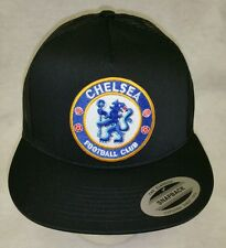 CHELSEA SOCCER BASEBALL  HAT COLOR  BLACK MESH TRUCKER SNAP BACK FLAT BUILD
