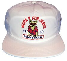 BENNY GOLD BULLDOG WORK'S FOR JERKS PARTY ANIMALS UNSTRUCTURED SNAPBACK HAT CAP