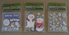 3 Packs of Very Cute Christmas Scrap Booking  Sticker Embellishments (X-102)