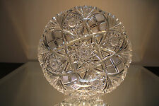 ANTIQUE AMERICAN BRILLIANT CUT GLASS CRYSTAL ABP MONSTER LOW BOWL
