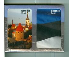 "Two Non-Standard Decks Playing Cards ""Estonia Facts"", by Finders Forum, Canada"