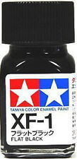 O TAMIYA COLOR FLAT ENAMEL  PAINT NEW 10ML XF-1 FLAT BLACK