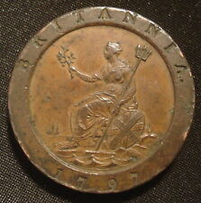 1797 GEORGE III CARTWHEEL TWOPENCE A HIGHER GRADE COIN ATTRACTIVE TWO-TONE