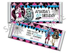 Monster High Candy Bar Wrappers - Party Favors - Set of 12