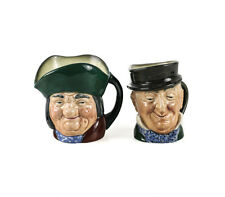 2pc Royal Doulton Small Toby Jugs Toby Philpott D5737, Mr. Micawber D5843 3 1/4""