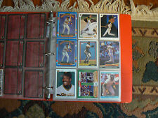 A COLLECTION of 99 HOF BARRY BONDS BASEBALL CARDS TOPPS UPPER DECK IN A BINDER