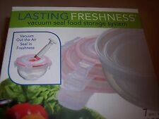 Lasting Freshness Round Shaped Food Vacuum Seal Storage Set 7 Pcs