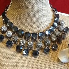 Elegant Design Zara Smokey & Clear Crystal Bead Statement Necklace RRP £29.99