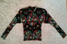 ISSEY MIYAKE oriental lucky lion pleated blouse top size 3 S or M