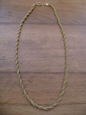 "GOLD TONE TWISTED CHAIN 16 1/2"" - #10"