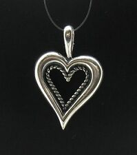 STYLISH STERLING SILVER PENDANT CHARM HEART 925 PE000123 SOLID EMPRESS