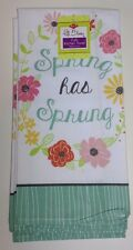 """Ritz Full Bloom 2 Kitchen Towels, """"Spring has Sprung"""" New 100% Cotton"""