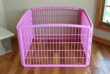IRIS Plastic Exercise/Containment Pet Pen, 4 Panels, Pink , New, Free Shipping
