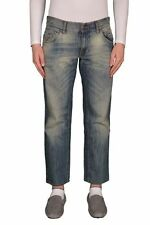 "Dolce & Gabbana ""D&G"" Distressed Straight Legs Cropped Men's Jeans US 32 IT 48"