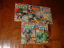 1975-76 Lot Run of 5 Iron Fist 2 3 4 5 6  VF- (2)  Fn (2)  VG (1) Free Shipping