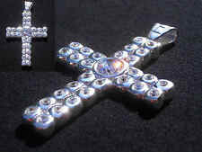 50 CENT Kreuz*Cross*echt 925 Silber*Stempel*Zirkonia Diamanten*PLAYAZ 60mm*BLING