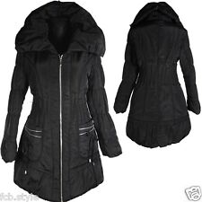 DAMEN BALLON WINTER JACKE PARKA MANTEL 46 L SCHWARZ WARM ANORAK WINTERJACKE COAT