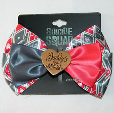 DC Comics Suicide Squad Harley Quinn Daddy's Lil Monster Costume Hair Bow Clip