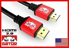 Ultra HDMI 2.0 Cable HDTV LED LCD PS4 V2.0 3D 2160P 4K X2K XBOX BLURAY DVD 10 FT