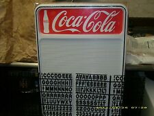 Coca-Cola Menu Board Sign w/letter & number sets!.