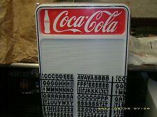 Coca-Cola Menu Board Sign w/letter & number sets!.