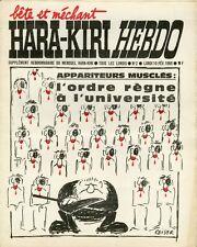 """""""HARA-KIRI HEBDO N°2 du 10/2/1969"""" REISER : L'ordre règne à l'université"""