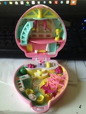 Vintage 1993 Bluebird Polly Pocket House Pink  With Polly . With Damage It won't