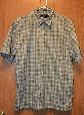 Mens Plaid American Eagle Outfitters Short Sleeve Shirt Size Medium excellent