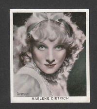 Marlene Dietrich 1934 Movie Film Star Cigarette Card from Germany #24