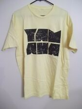 GENUINE YAMAHA MOTORCYCLES YELLOW COLUMN 100% COTTON T-Shirt L NEW NWT TEE LARGE